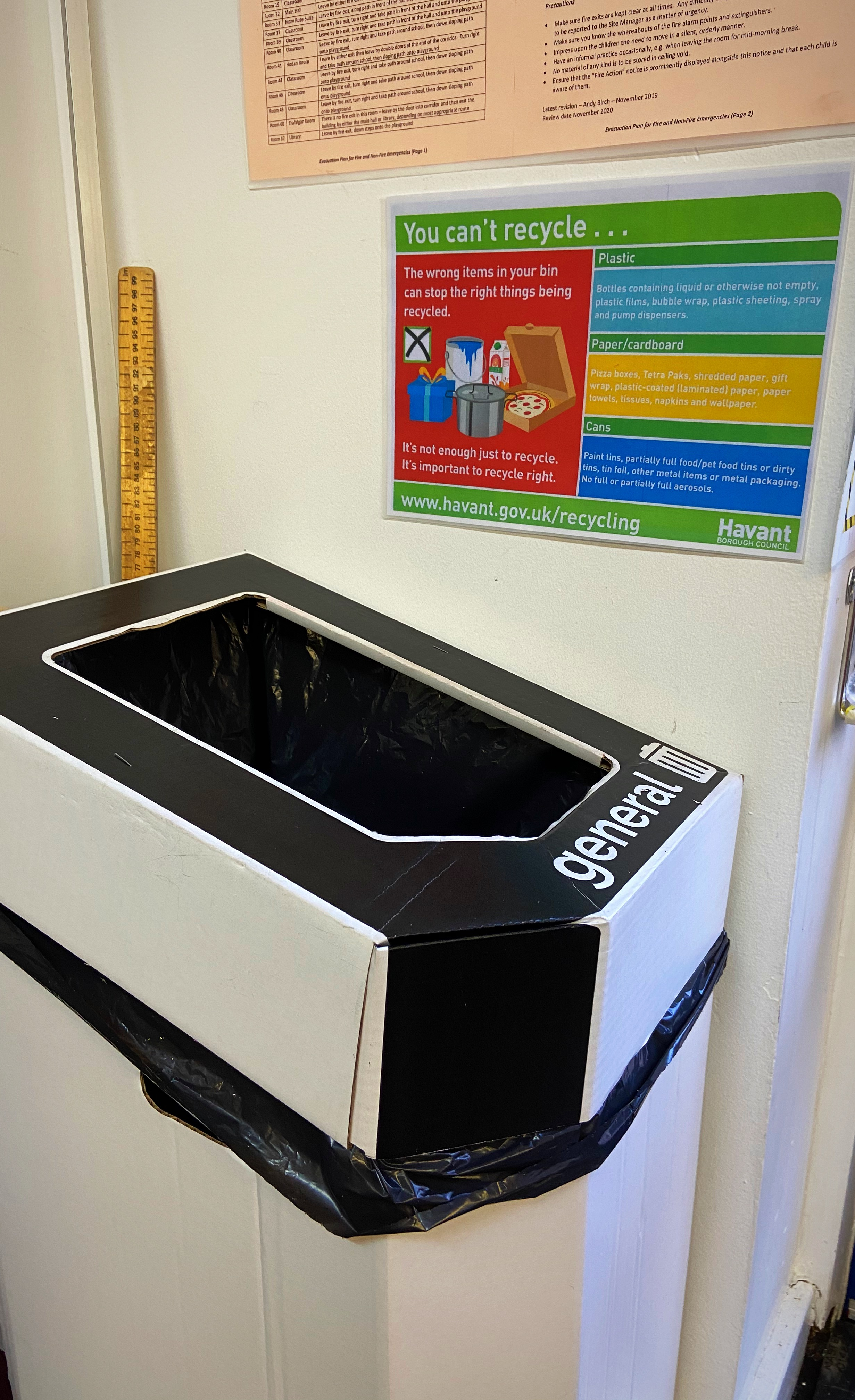 New General Waste and Mixed Recycling bins have been introduced to all classes, shared areas, learning spaces and community areas. We are now more mindful of how we throw away our waste and what can/cannot be recycled.