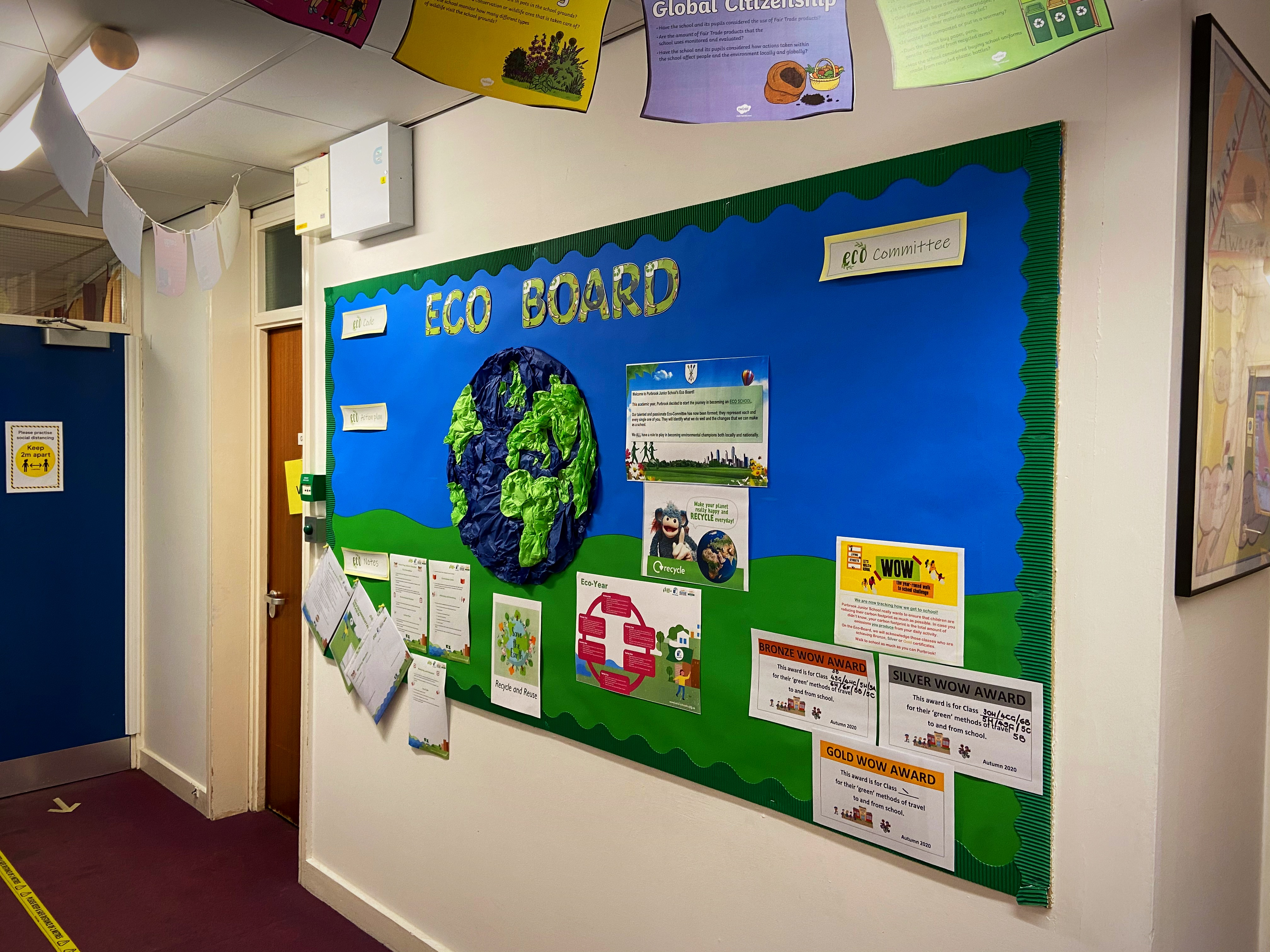 An Eco-Board has been created to display all things environment related.