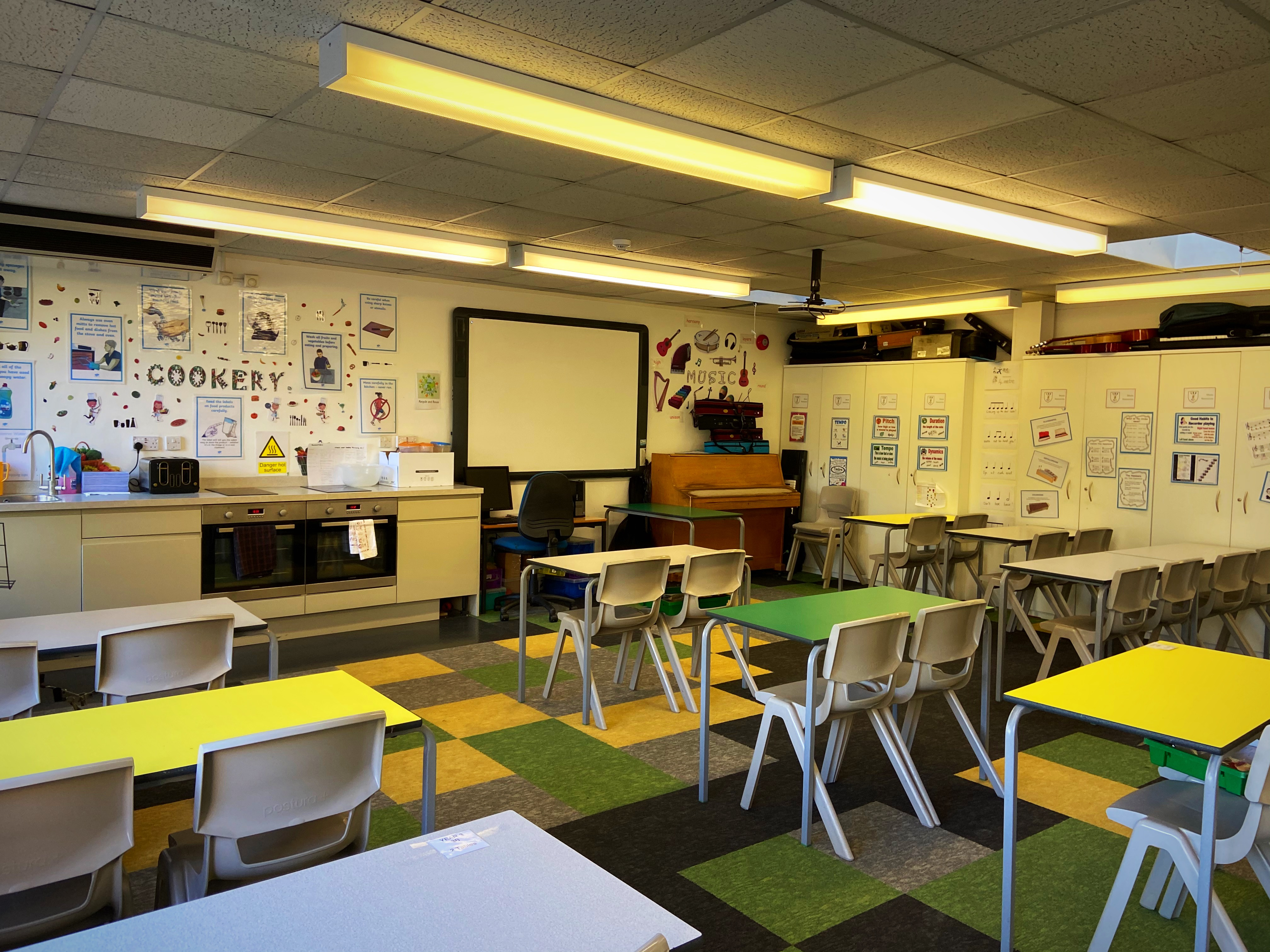 Our dedicated Music and Drama room used for whole class and peripatetic lessons