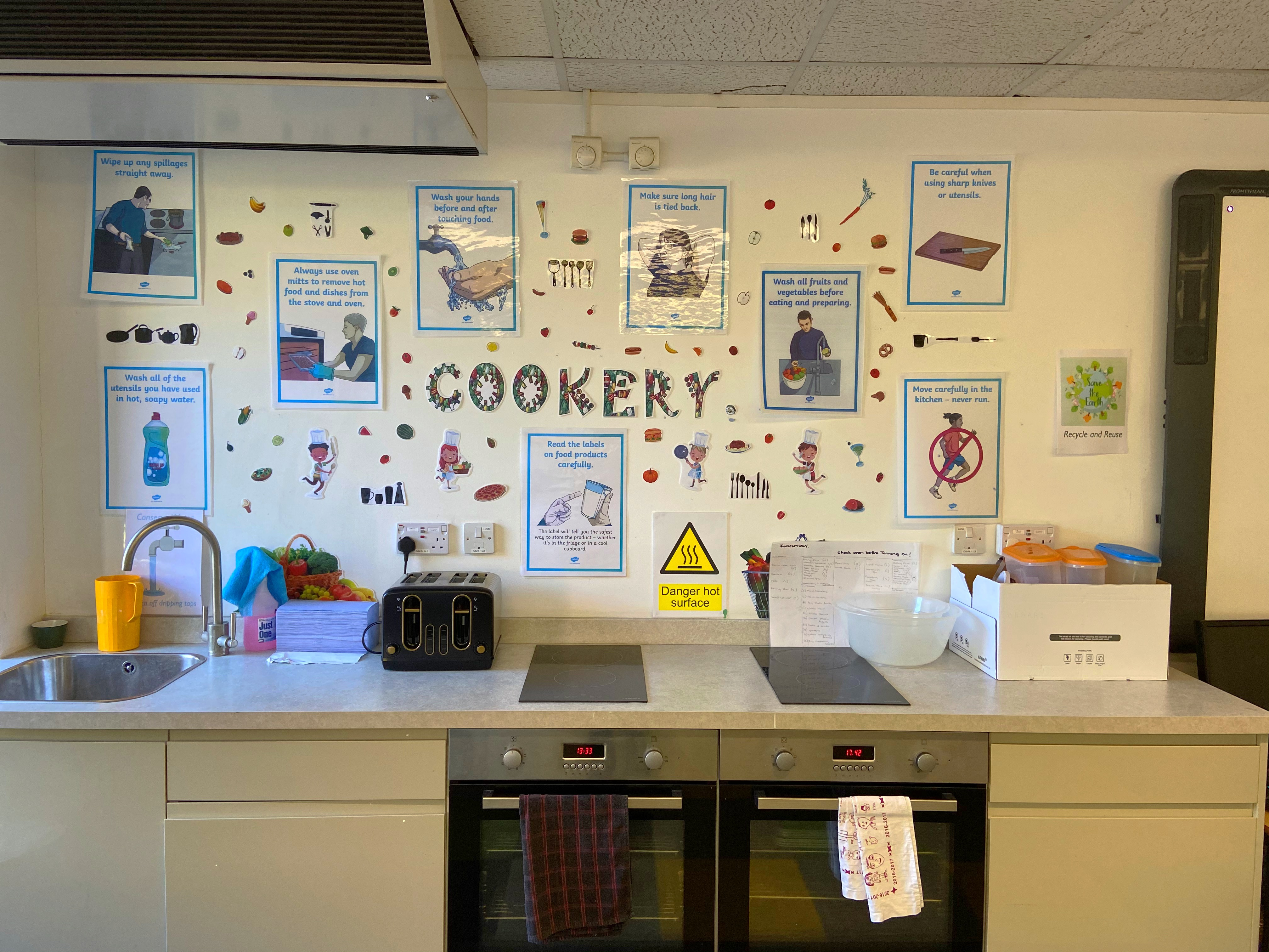 Dedicated kitchen and cookery area for children