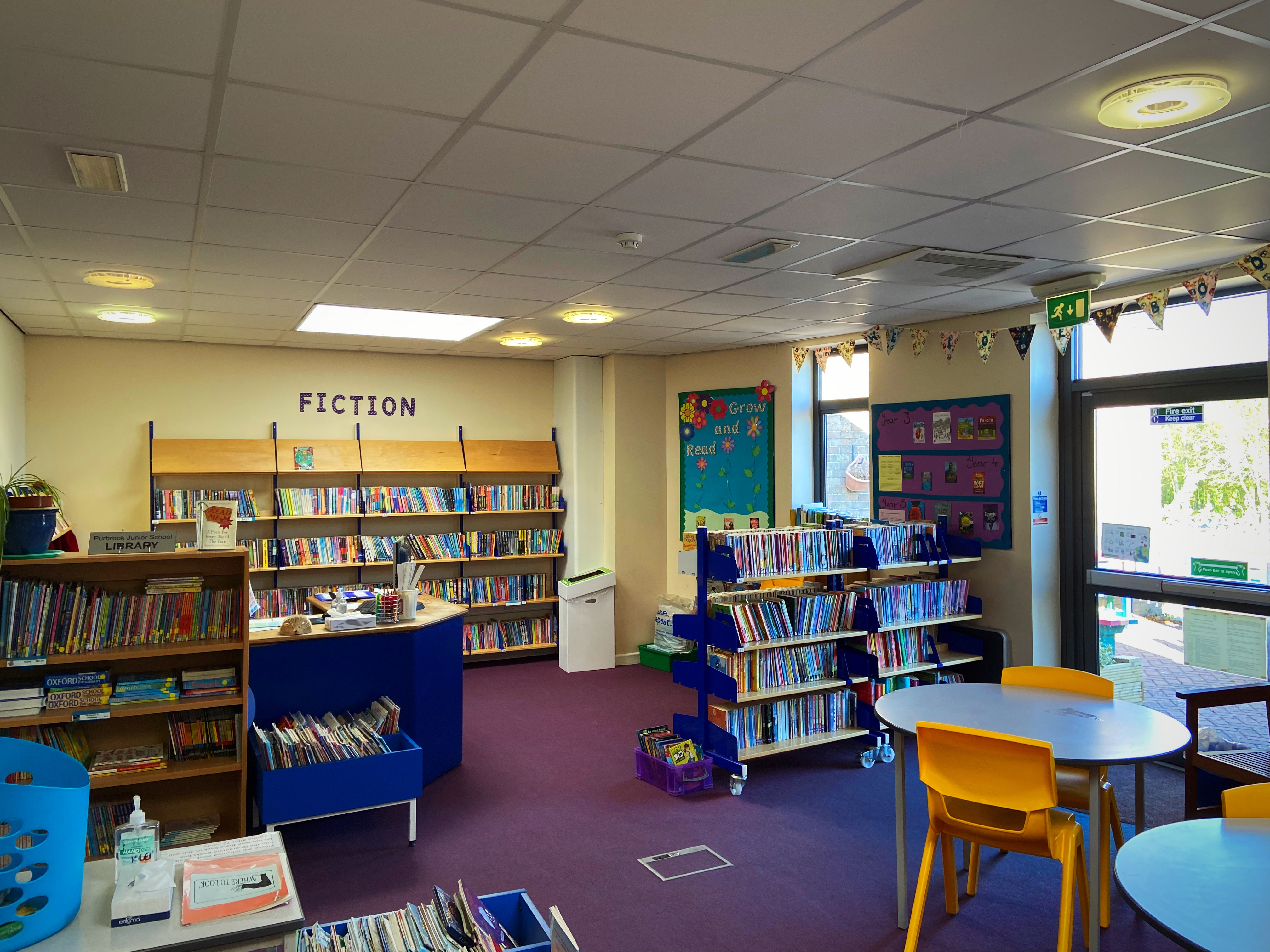 Our well-resourced and bright school library