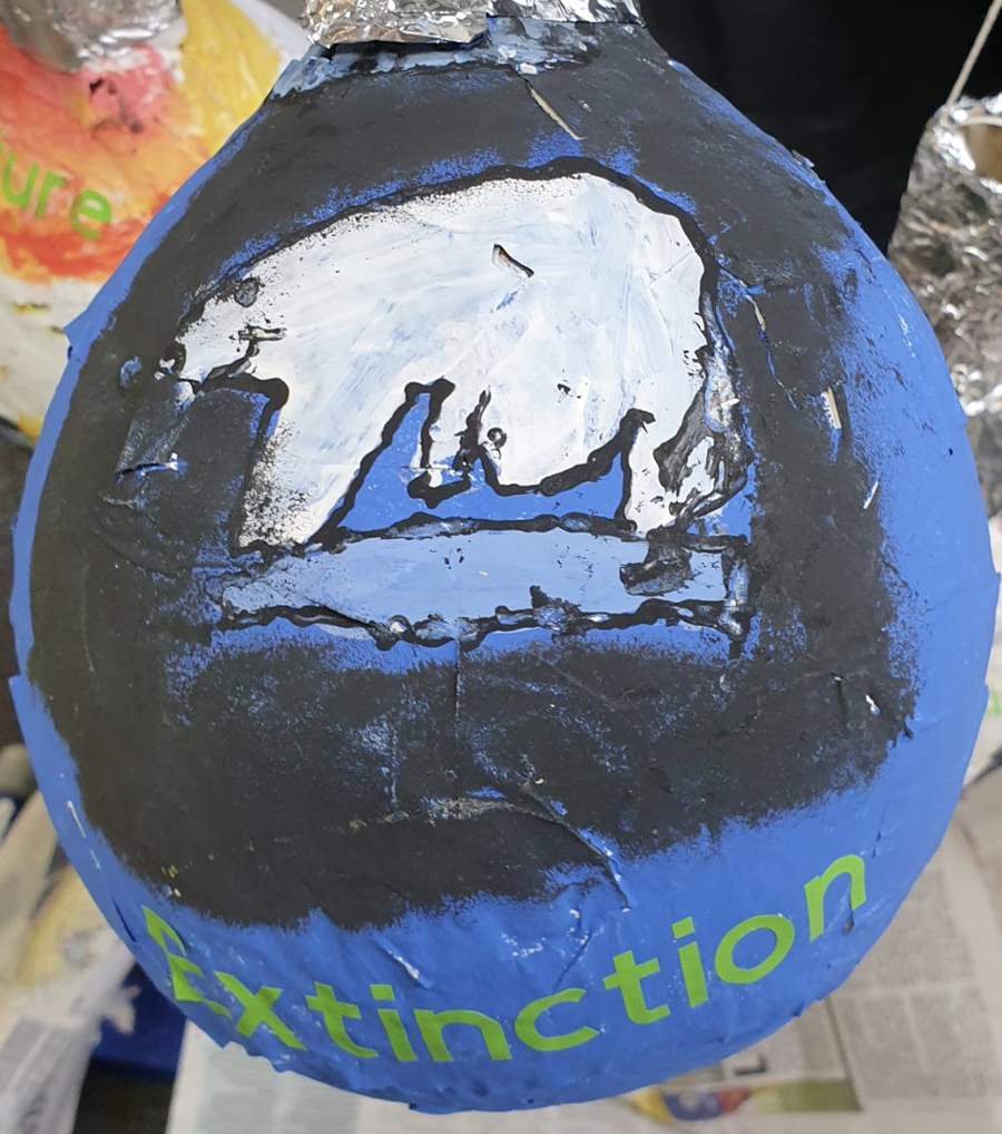 A Year 6 light bulb focusing on the concept of extinction, specifically polar bears